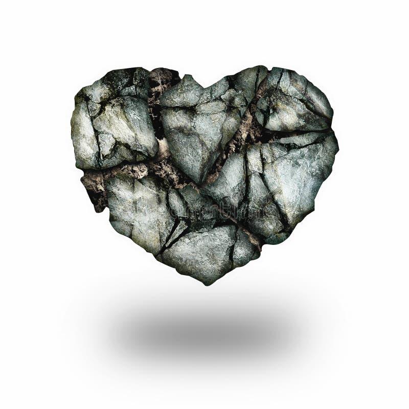Hjärta av stenen royaltyfri illustrationer