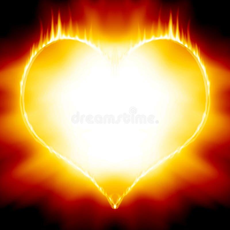 Hjärta avfyrar på vektor illustrationer