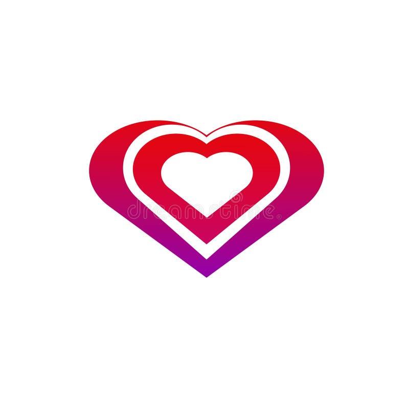 Hjärta för förälskelse med en härlig färg royaltyfri illustrationer