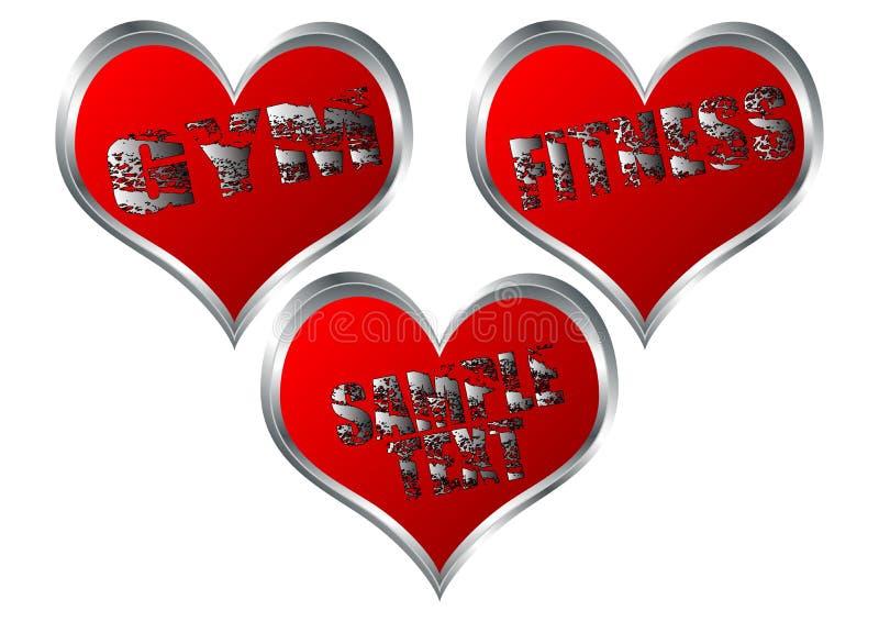 hjärta för kondition 01 royaltyfri illustrationer