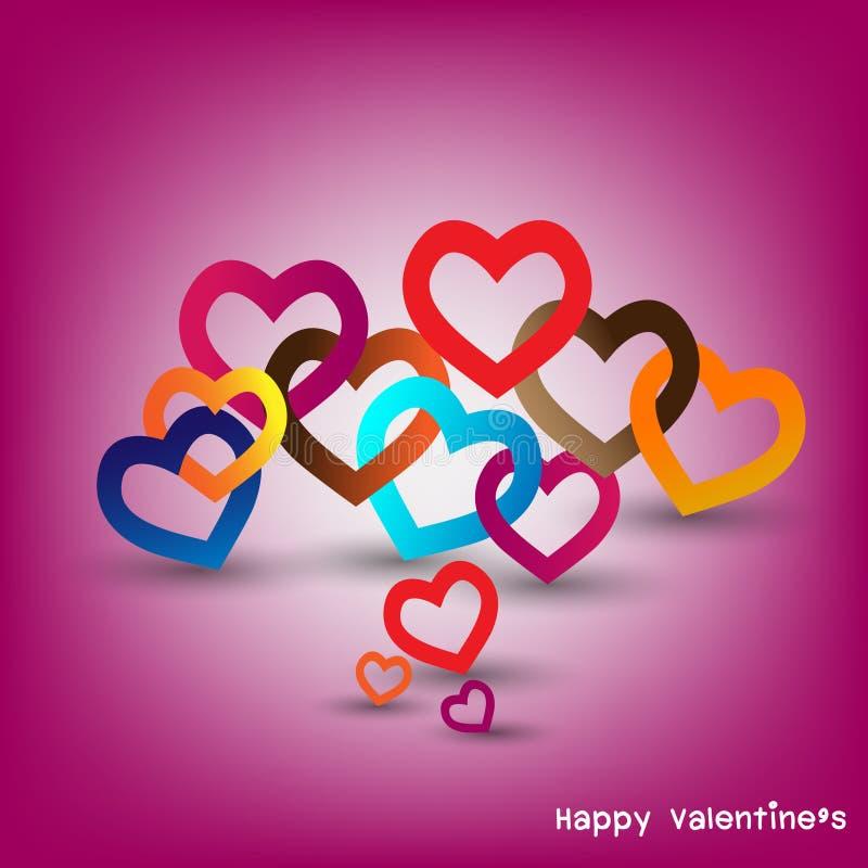 Hjärta för två rosa färg royaltyfri illustrationer