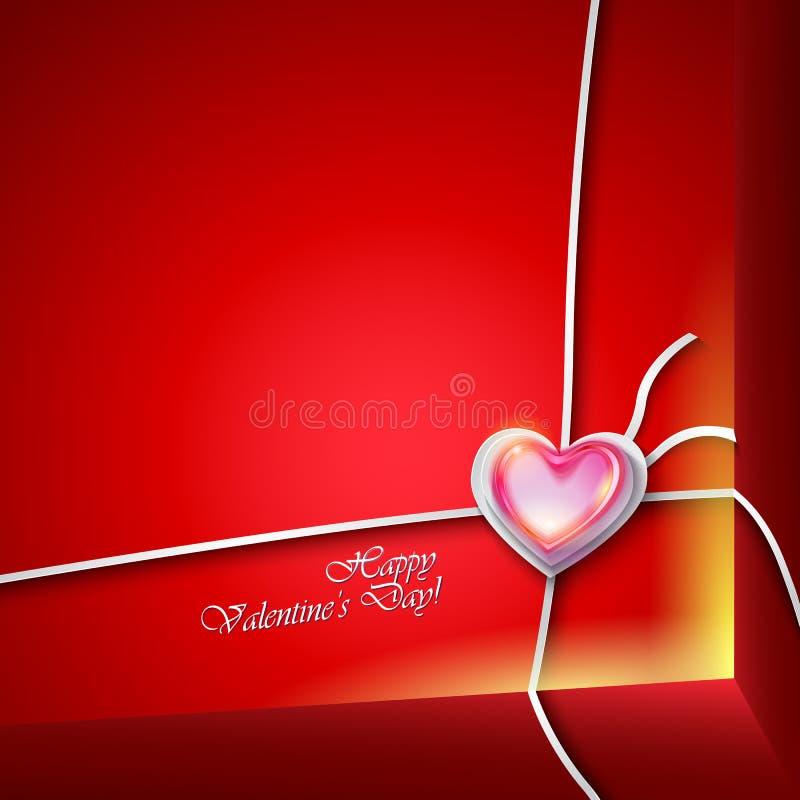 Hjärta för två rosa färg stock illustrationer