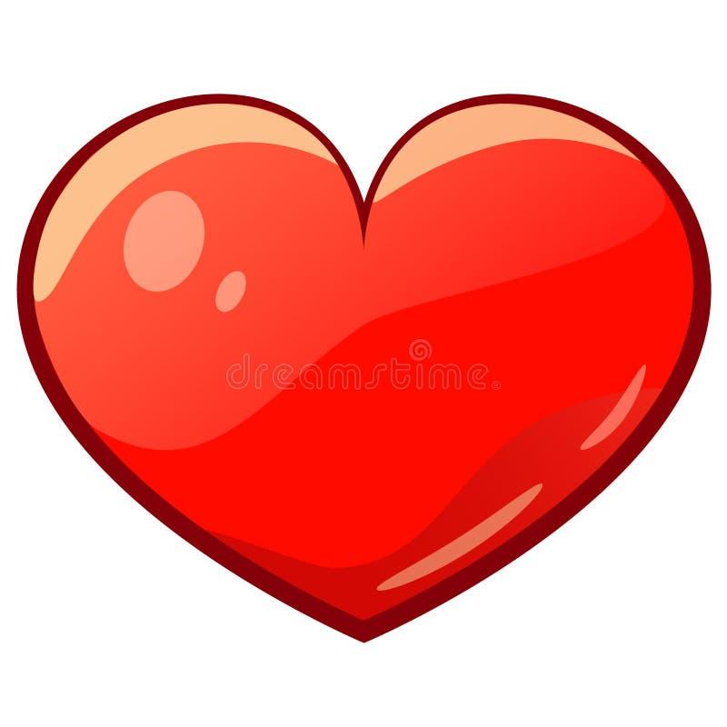 Hjärta för valentintecknad filmteckning vektor illustrationer