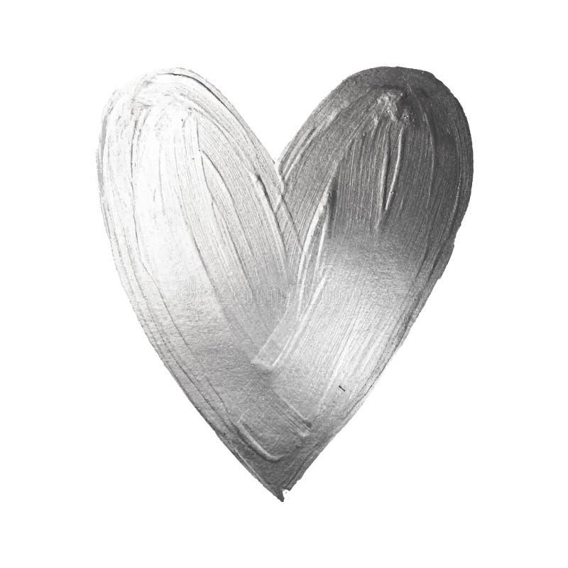 Hjärta för vektorfoliemålarfärg på vit bakgrund Lycklig Valintinas för förälskelsebegreppsdesign dag Enkelt att använda och redig royaltyfri illustrationer