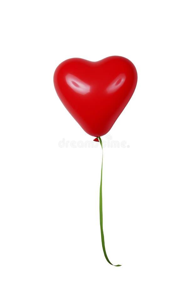 Hjärta formad ballong royaltyfria foton