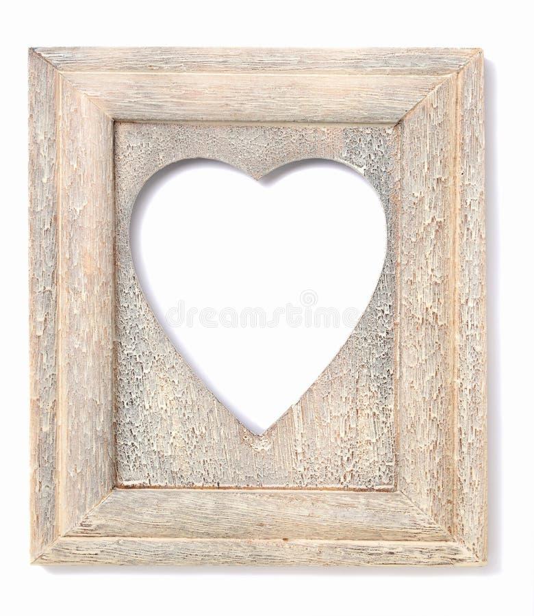 Hjärta formad bildram arkivbild