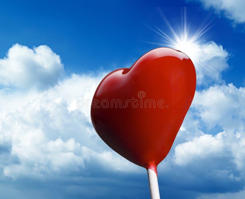Hjärta-formad klubba royaltyfria bilder