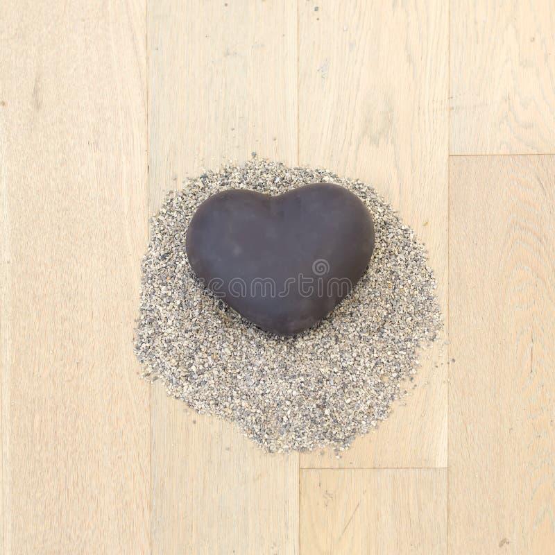 hjärta formad sten royaltyfri fotografi