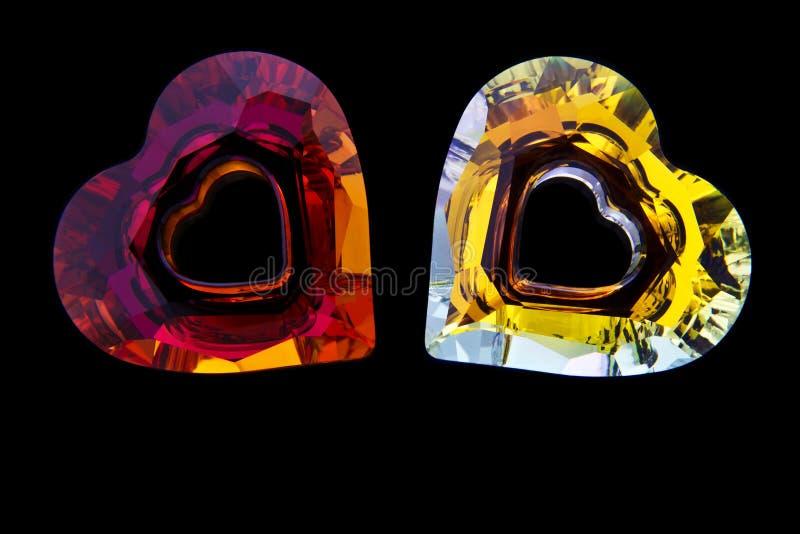 Hjärta formade diamanter royaltyfri fotografi