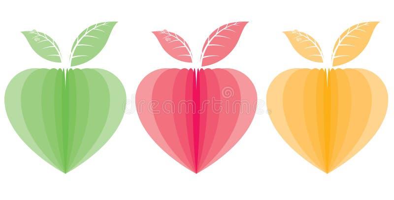 Hjärta formade växter vektor illustrationer