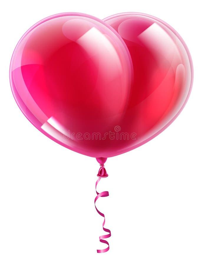 Hjärta formar ballongen stock illustrationer