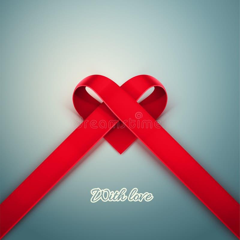 Hjärta från band stock illustrationer