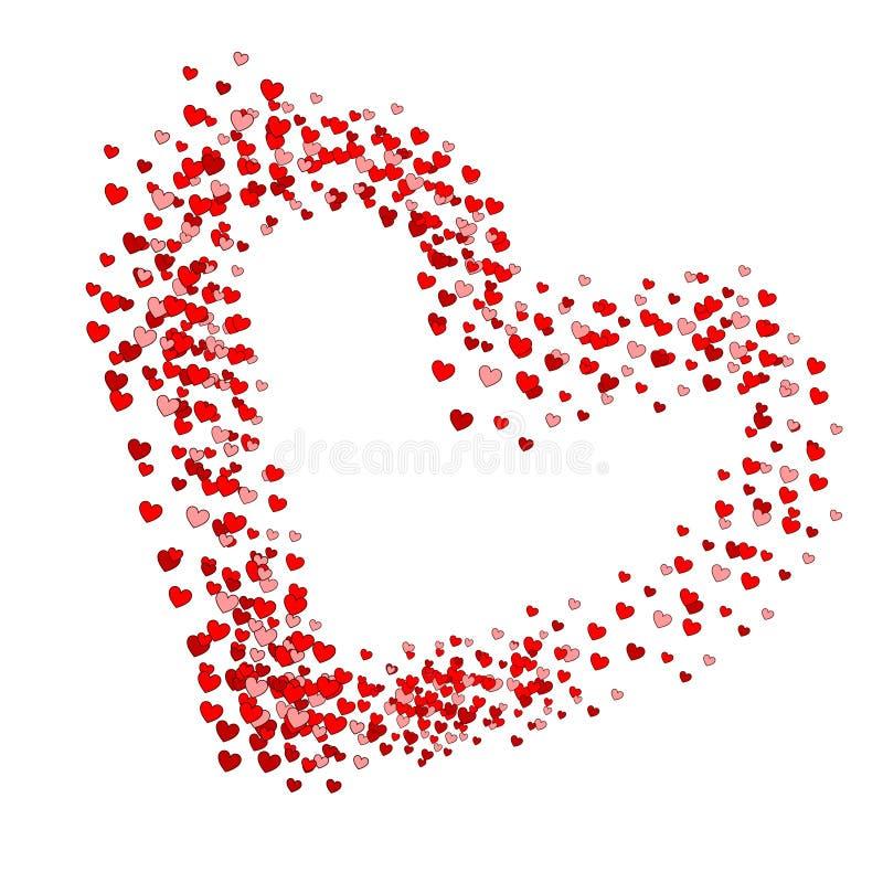 Hjärta hjärtor, form royaltyfri illustrationer
