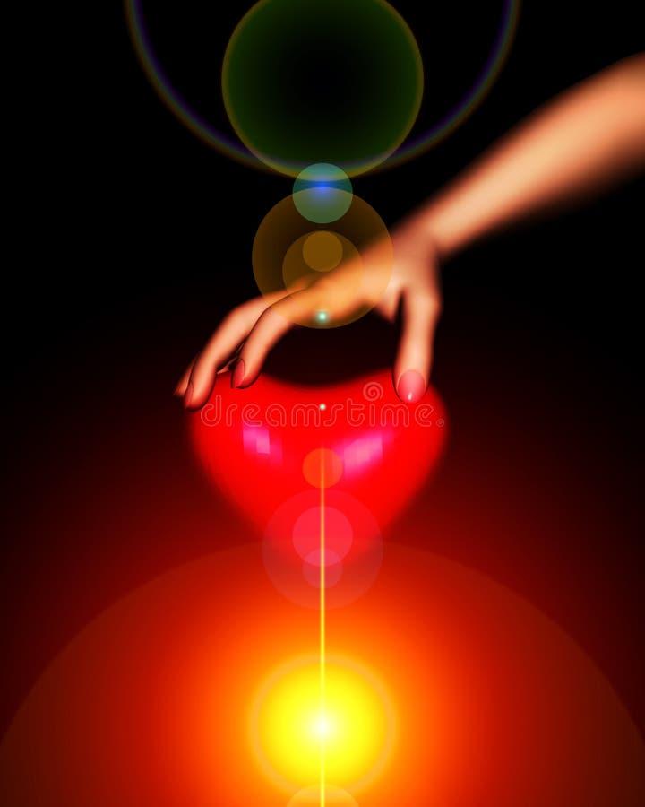 Hjärta i hand 44 royaltyfri illustrationer