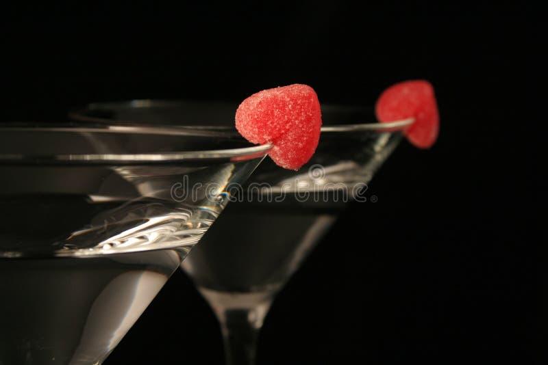 hjärta martini arkivfoton