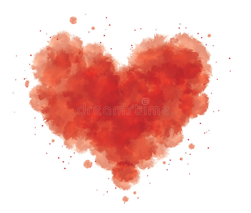 Hjärta med blod royaltyfri illustrationer