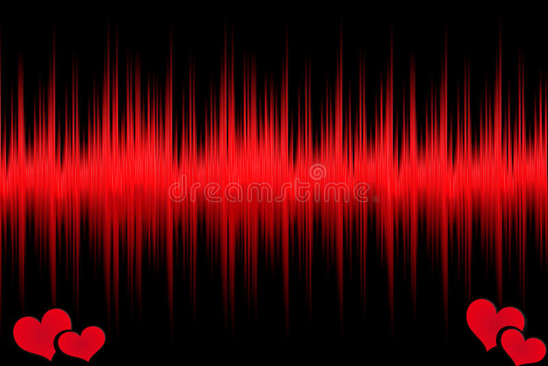 Hjärta med ekg arkivfoton