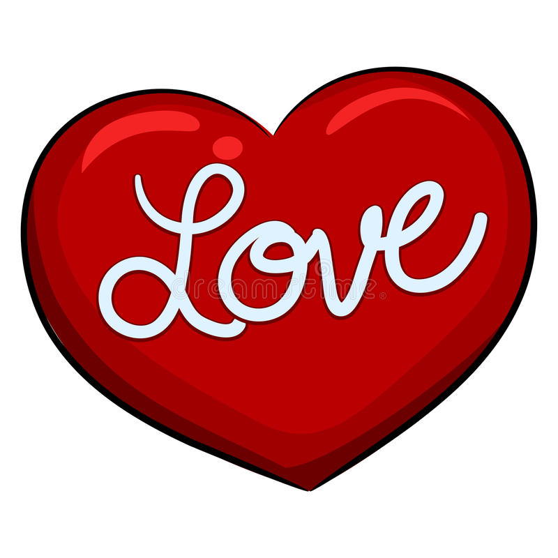 Hjärta med förälskelsemeddelandet royaltyfri illustrationer
