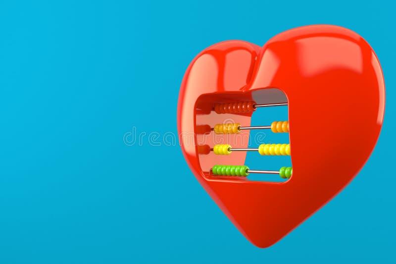 Hjärta med kulrammet vektor illustrationer