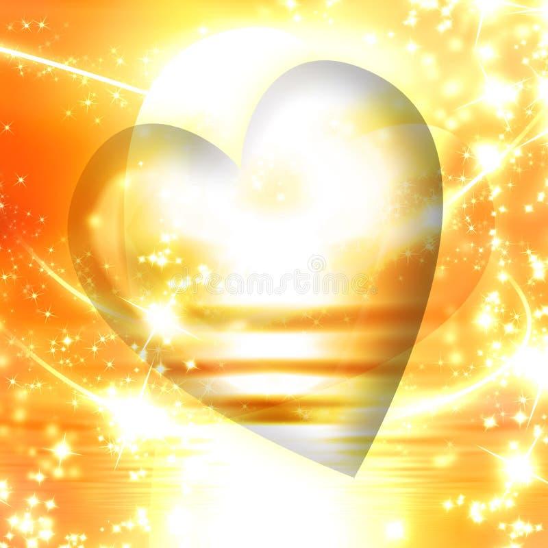 Hjärta med sparkles vektor illustrationer