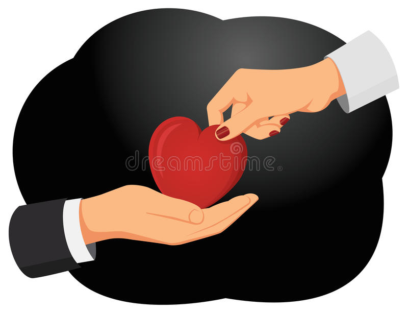 hjärta min portfölj till valentinvälkomnandet royaltyfri illustrationer