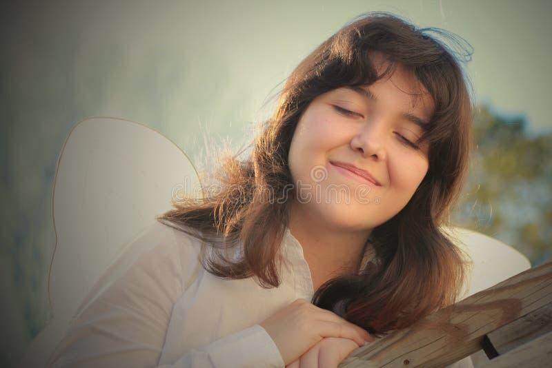 Hjärta och anda för ung kvinna royaltyfri foto