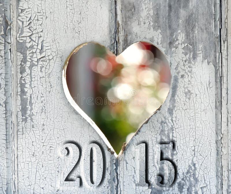 Hjärta på dörren 2015 fotografering för bildbyråer