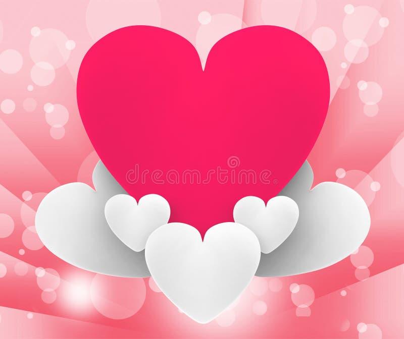 Hjärta på dröm för romantiker för hjärtamolnshower eller royaltyfri illustrationer