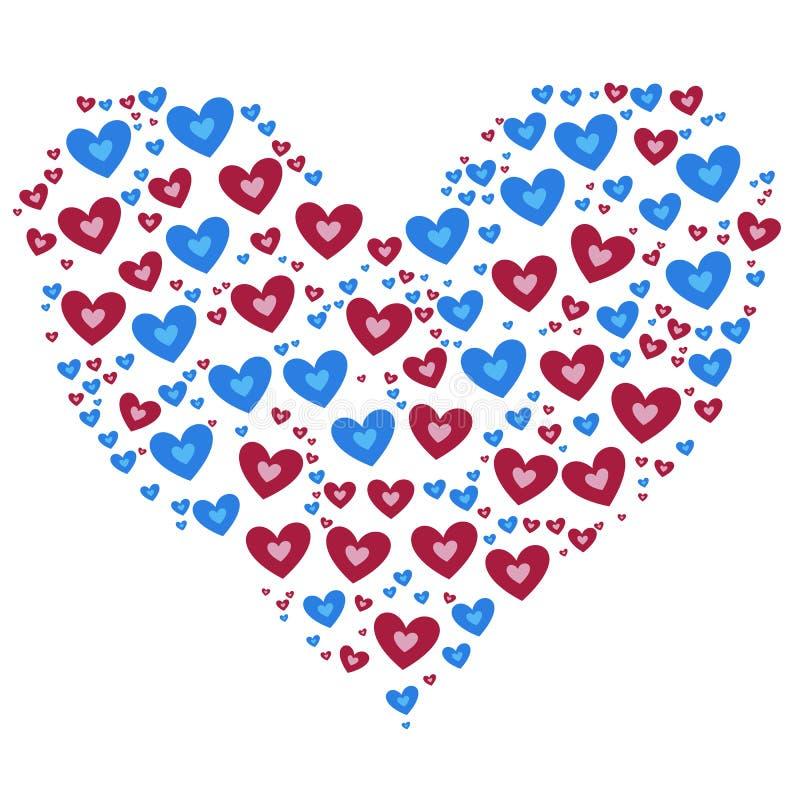 Hjärta på röd bakgrund arkivfoto