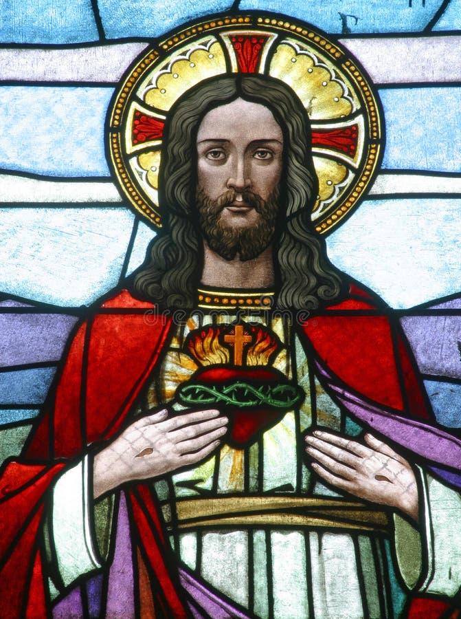hjärta sakrala jesus arkivfoton