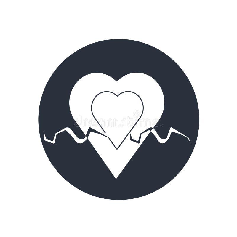 Hjärta slår räddningslina i ett tecken för hjärtasymbolsvektor, och symbolet som isoleras på vit bakgrund, hjärta slår räddningsl royaltyfri illustrationer