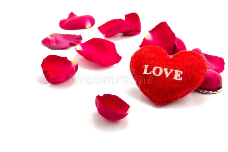 hjärta som ett symbol av förälskelse med steg, valentins dag royaltyfri bild