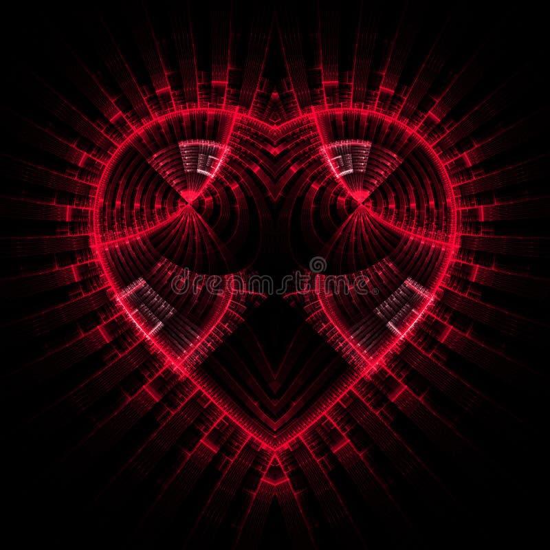 hjärta som skiner vektor illustrationer