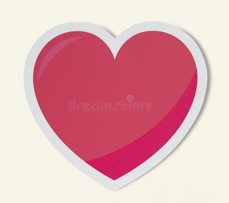 Hjärta som symbol för förälskelseromansvalentin royaltyfri illustrationer