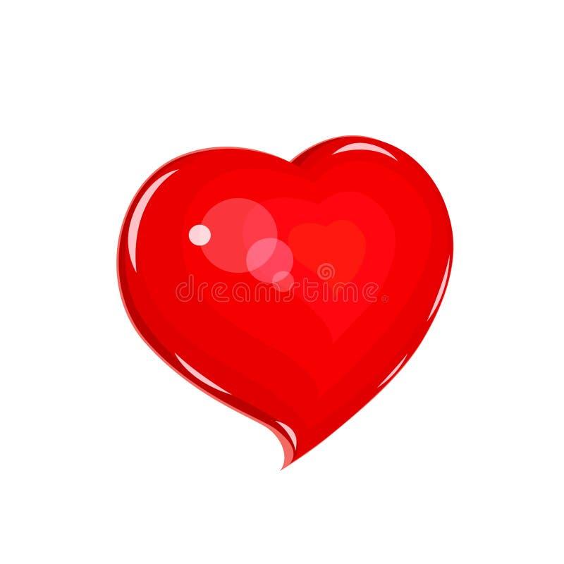 Hjärta Symbolförälskelse för helgonvalentindag royaltyfri illustrationer