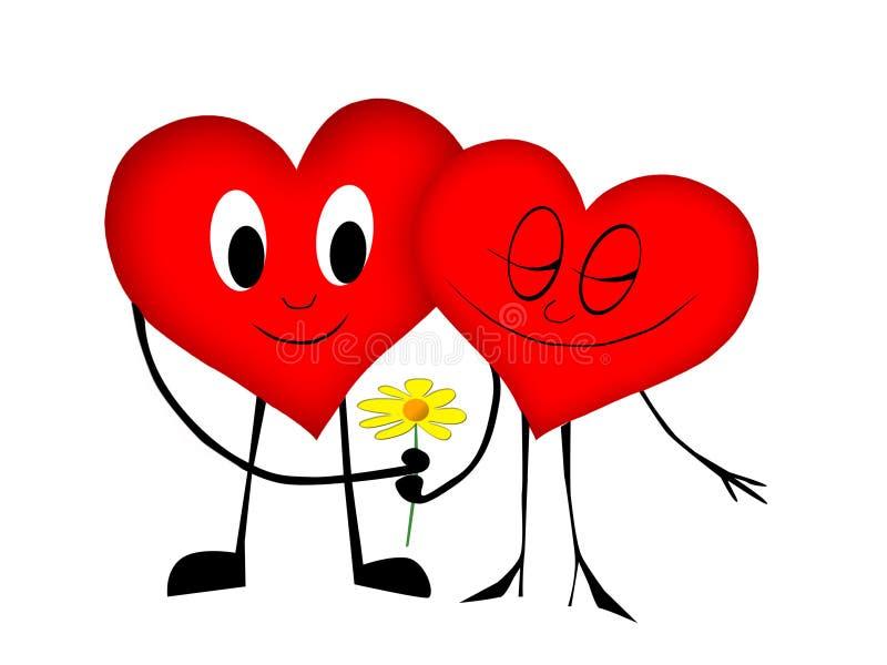 hjärta två vektor illustrationer