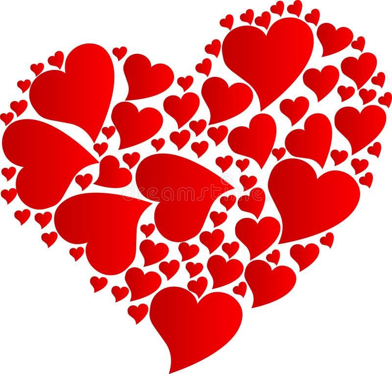 Hjärta vid hjärtor stock illustrationer