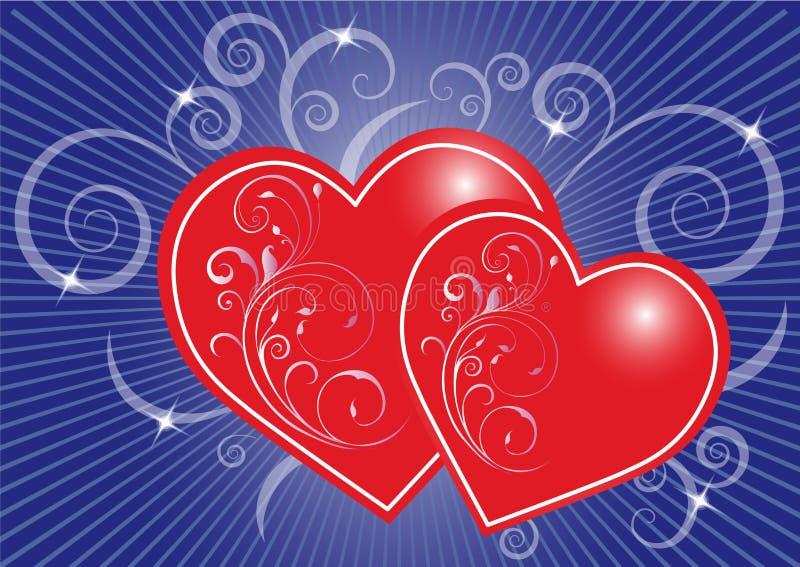 Hjärtabakgrund stock illustrationer