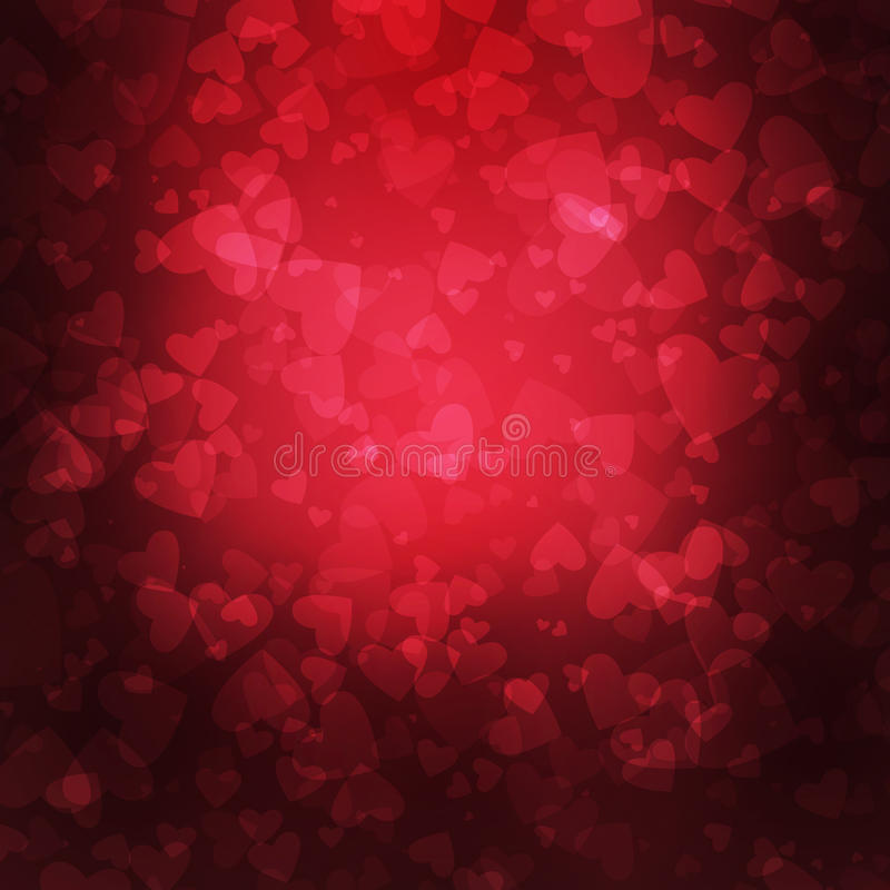 Hjärtabakgrund för valentin dag stock illustrationer