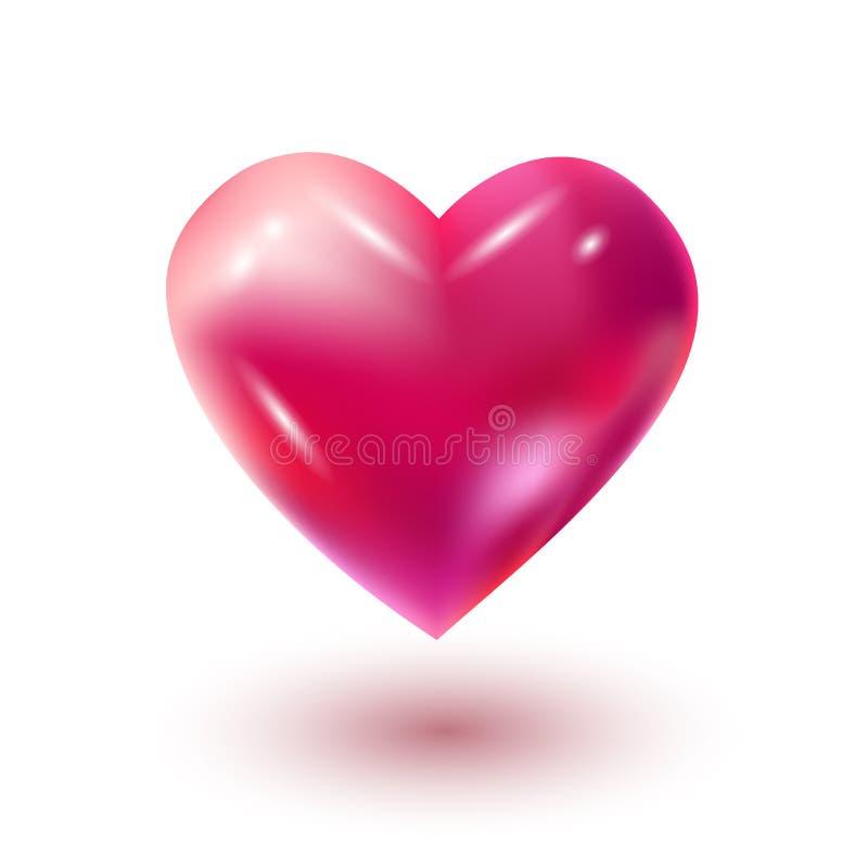 Hjärtaballong royaltyfri illustrationer