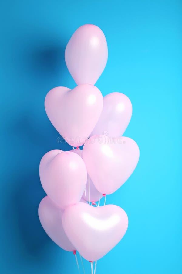 Hjärtaballonger royaltyfri bild