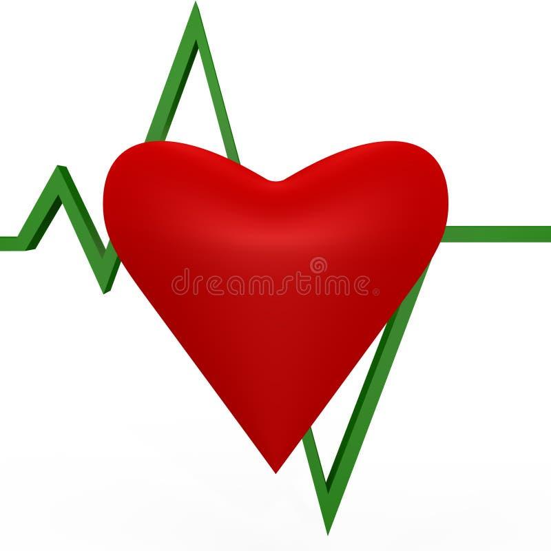 hjärtabild för stryk 3d dig vektor illustrationer