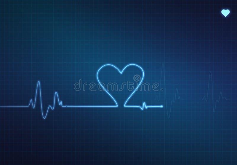 Hjärtabildskärm royaltyfri illustrationer