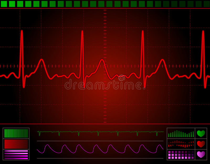 hjärtabildskärmskärm vektor illustrationer