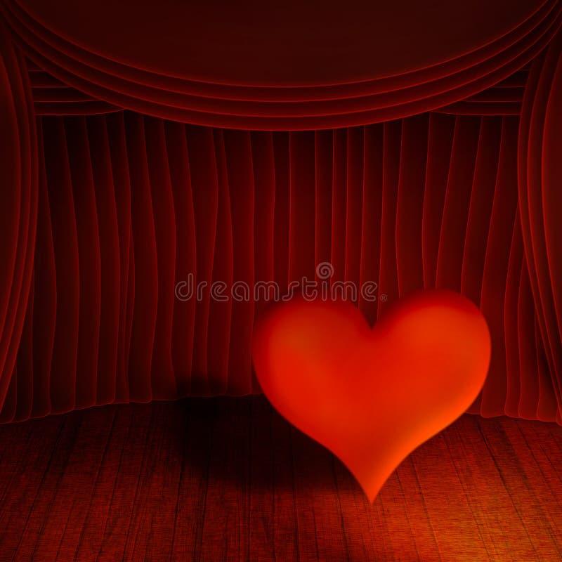 hjärtaetapp stock illustrationer