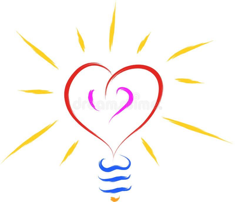 Hjärtaförälskelsekula royaltyfri illustrationer