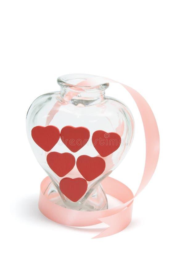hjärtaförälskelsevase arkivbilder