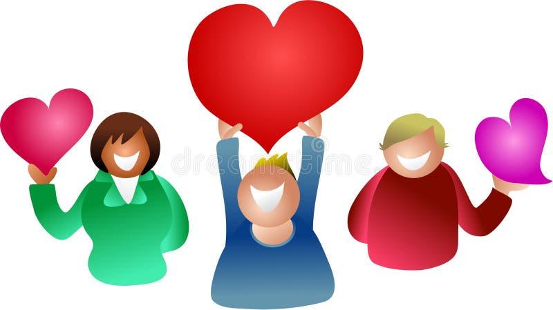 hjärtafolk stock illustrationer