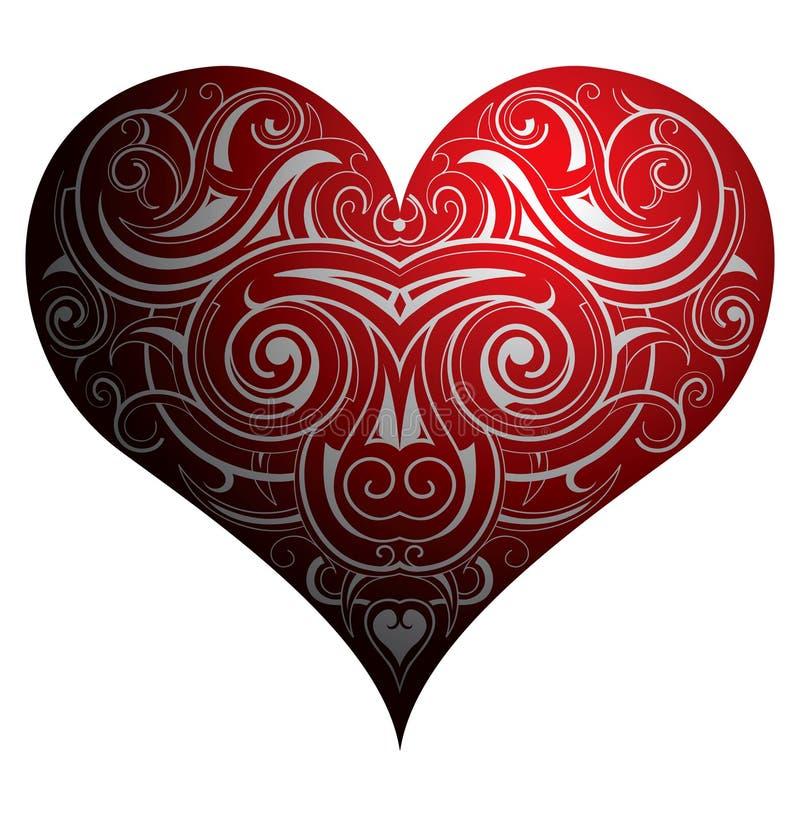 hjärtaform stock illustrationer