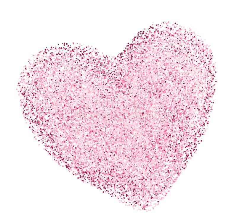 Hjärtaform med dekorativ textur stock illustrationer